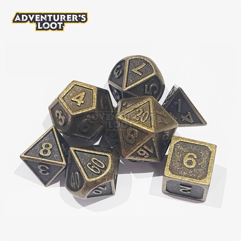 metal-dice-antique-gold-dice-set-stack
