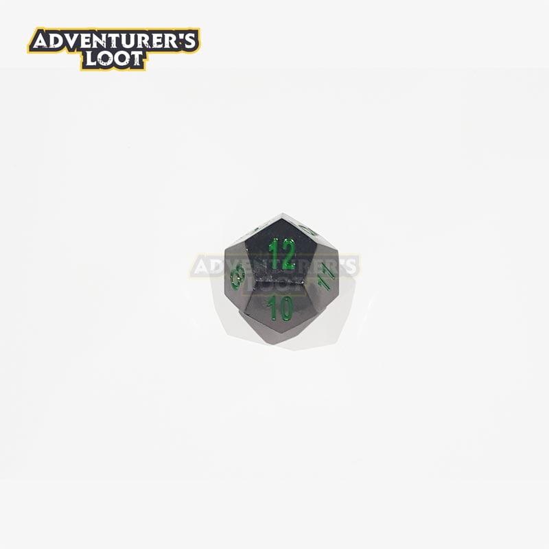 metal-dice-black-nickel-green-dice-d12