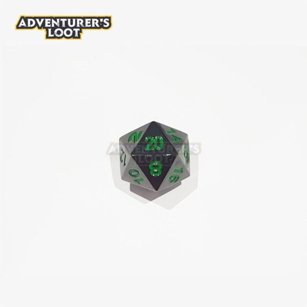 metal-dice-black-nickel-green-dice-d20