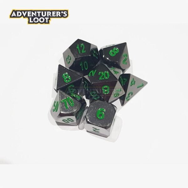 metal-dice-black-nickel-green-dice-set-stack