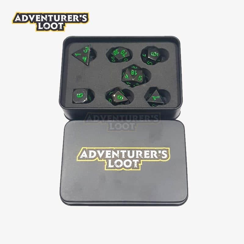 metal-dice-black-nickel-green-dice-set-tin