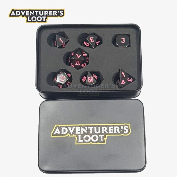 metal-dice-black-nickel-pink-dice-set-dice-tin
