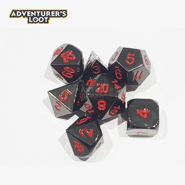 metal-dice-black-nickel-red-dice-set-dice-stack