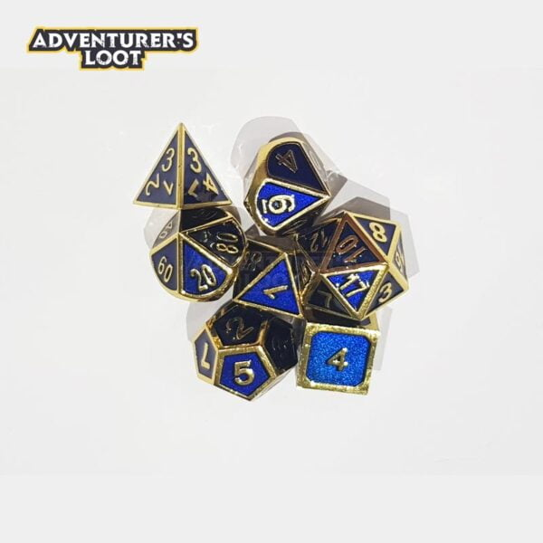 metal-dice-blue-gold-dice-set-dice-stack