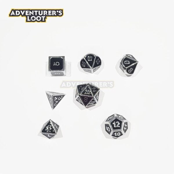 metal-dice-chrome-black-dice-set