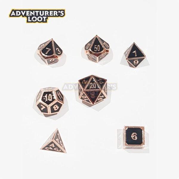 metal-dice-copper-black-dice-set