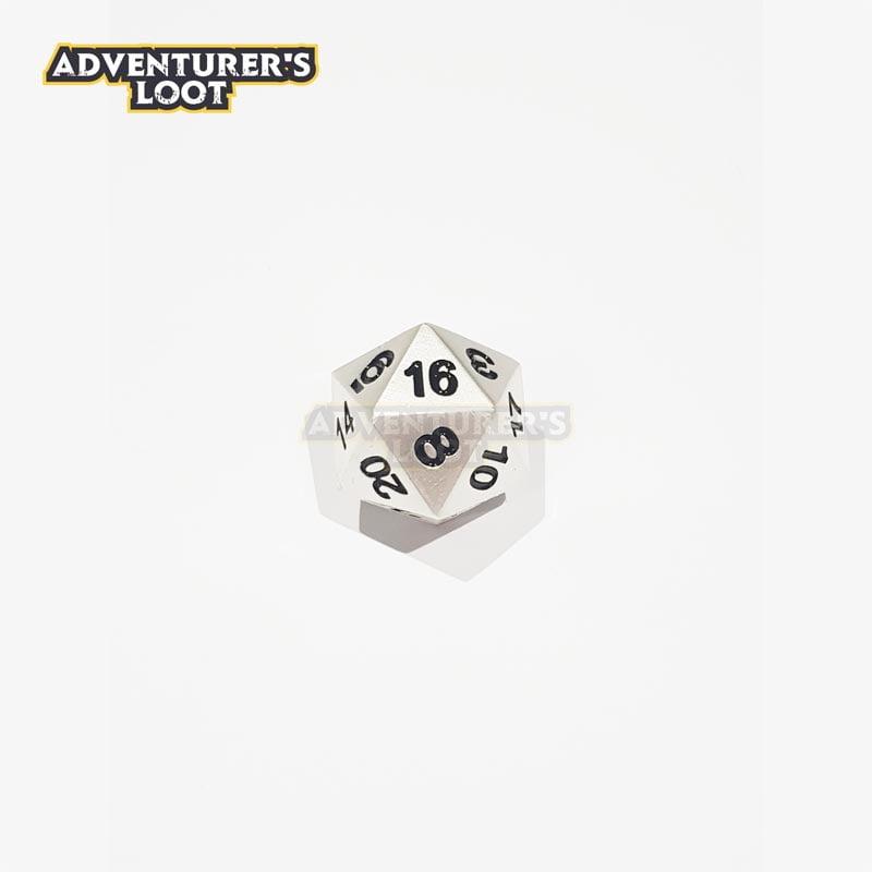 metal-dice-pearl-silver-dice-d20