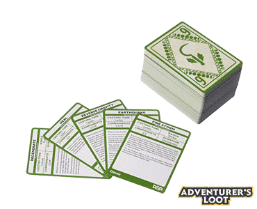 Spellbook Cards Druid Deck Cards