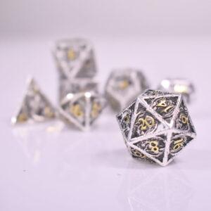 Hollow-Silver-Gold-Metal-Dice-D20
